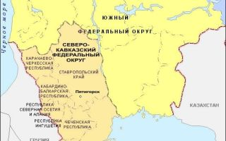Северный кавказ: республики в составе федерального округа страны на карте, население