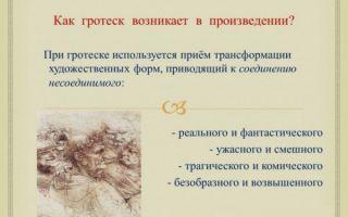 Определение гротеска в литературе, примеры гротеска и значение термина гротескный