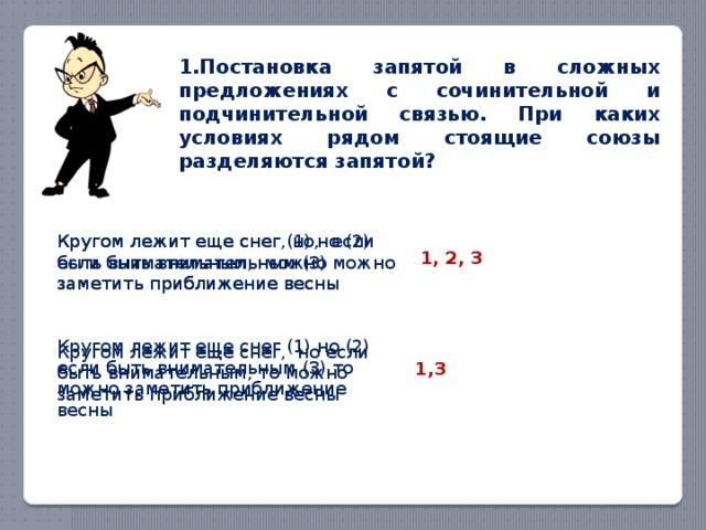 Сочинительная и подчинительная связь в предложении: типы предлогов, особенности пунктуации