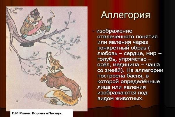 Аллегория, определение и примеры в литературе, отличие от метафоры