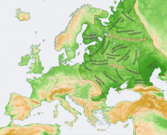 Рельеф восточно-европейской равнины: площадь, характер тектонической структуры, природные зоны