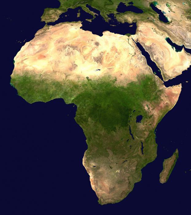 Африка: климат, режим осадков в тропическом поясе, полезные ископаемые и численность населения