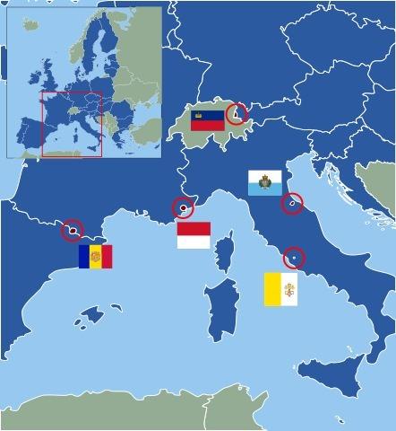 Государства в Европе: список крупных и карликовых стран и их столицы, кто входит в Евросоюз