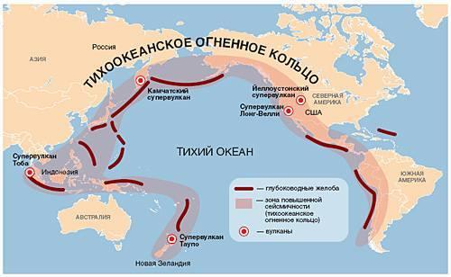 Сейсмические пояса Земли и страны, расположенные в опасных зонах землетрясений