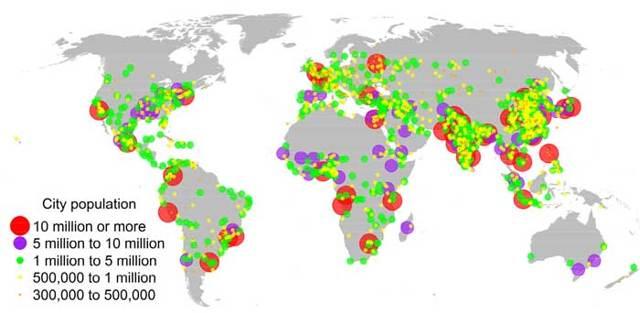 Урбанизация википедия, урбанизация на карте географии мира, уровень населения