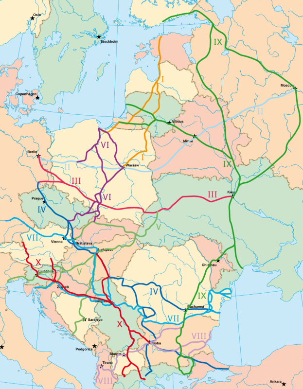 Машиностроение Европы: старопромышленные районы и транспортные центры на карте
