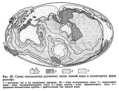Особенности рельефа Земли: материки и дно океана как планетарные формы земной поверхности